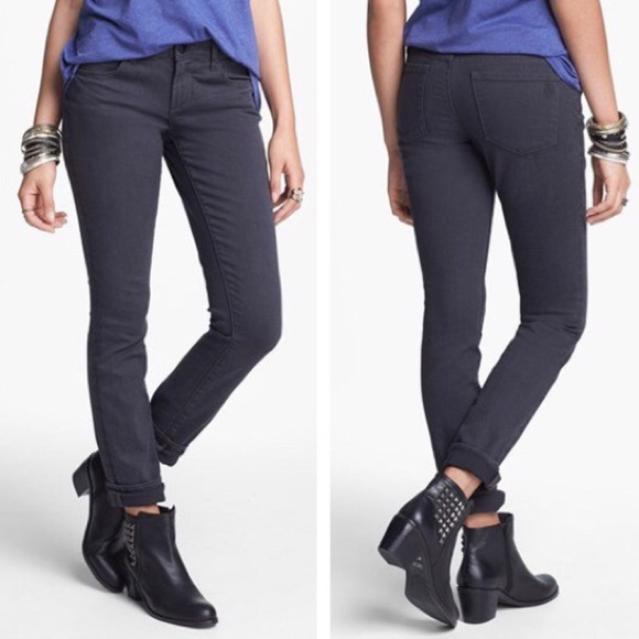 Articles Of Society Denim - Articles of Society Skinny Jeans in Mya Charcoal